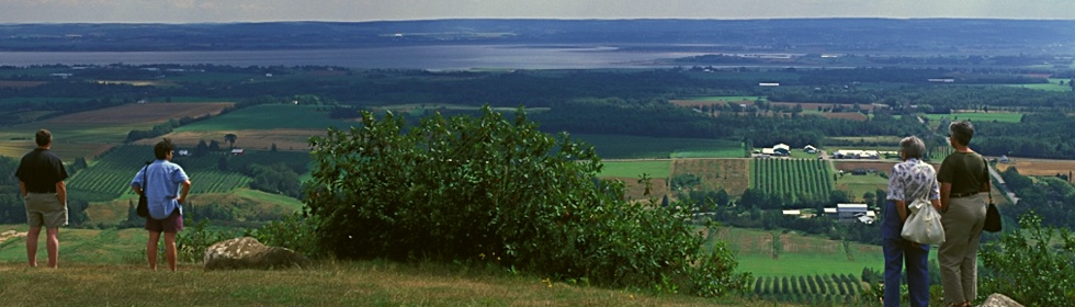 Directions with map of nova scotia. Blomidon Look-Off