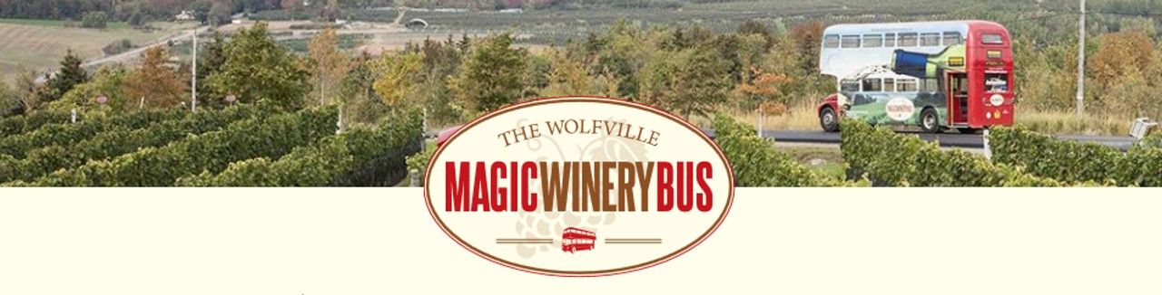 Wolfville Magic Winery Bus